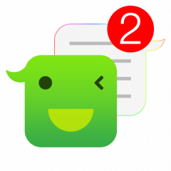 One Messenger 7 text background android