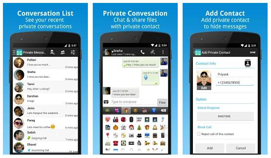 Private Message app for android