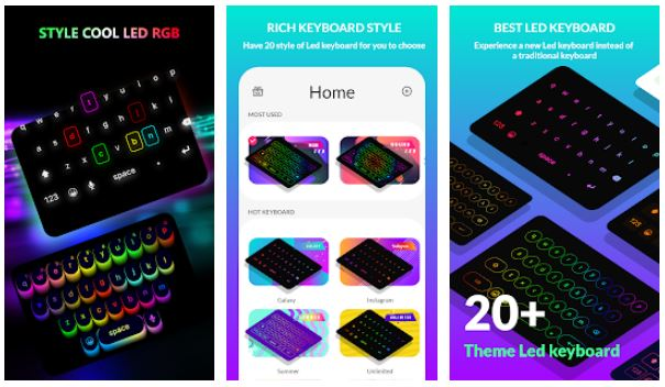 LED keyboard for android
